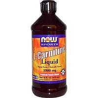 Now Foods, Жидкий L-Карнитин, со вкусом тропических фруктов, 100 мг,  (473 мл)