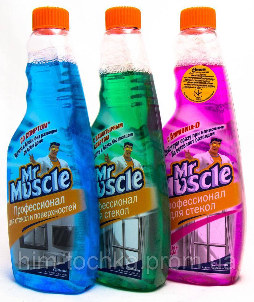 Мистер Мускул (Mr.Muscle) 500 мл запаска д/мытья стекол