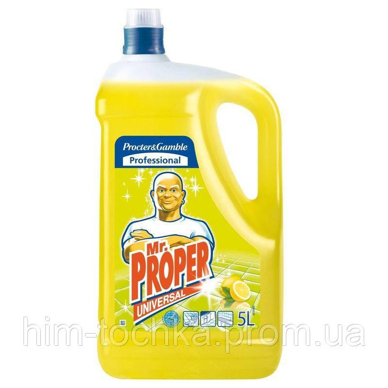 Средство для мытья пола Мистер Пропер 5 л, лимон