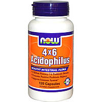 Now Foods, 4x6 Acidophilus, 120 капсул