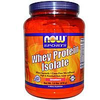 Now Foods, изолят сывороточного протеина, клубника, (816g)