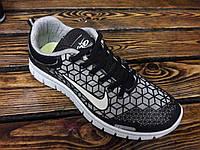 Спортивные кроссовки Nike Free 3.0 new черно-серые
