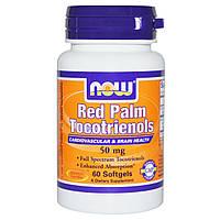 Now Foods, Красный Палм токотринолом, 50 мг, 60 капсул