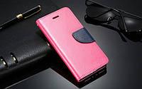 Ярко-розовый чехол-книжка с ремешком на руку и функцией подставки для Iphone 5/5S