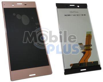 Sony F8331, F8332 Xperia XZ Дисплейный модуль с сенсорным экраном и передней панелью, Pink, original