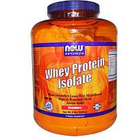Now Foods, Изолят сывороточного протеина для спортсменов, клубника (2268 г)