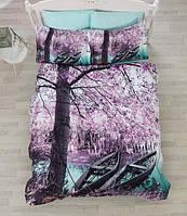 Качественное и красивое постельное белье из сатина в новых пейзажах.