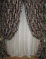 """Готовые шторы .""""Катрин"""" Ночные Портьеры   из солнце непроницаемой  ткани Блеккаут"""