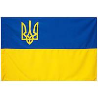Прапор України з Тризубом П-6Тг, Габардин, фото 1