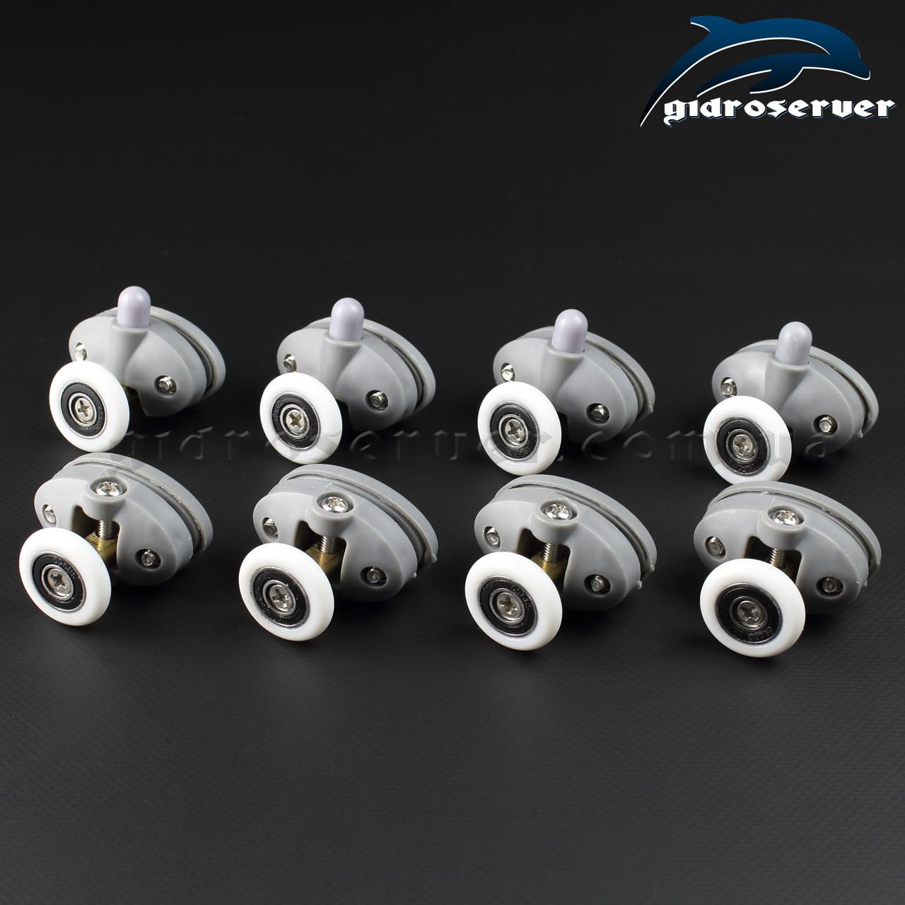 Ролики для душових кабін, гідробоксів R-17A+B комплект 8 штук.