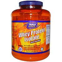 Now Foods, Изолят сывороточного протеина для спортсменов, голландский шоколад, (2268 г)