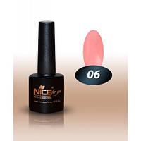 Гель-лак Nice for you № 06 натуральный розовый, эмаль  8,5 мл