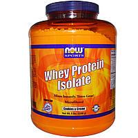 Now Foods, Изолят сывороточного протеина, печенье и крем (2268 г)
