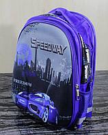 Рюкзак твердый синий с машиной
