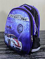 Рюкзак твердый синий с гоночной машиной