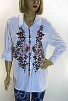 Блузка белая с вышивкой Hanezza