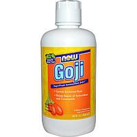 Now Foods, Годжи, противоокислительный сок суперфрукта (946 мл)