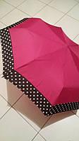 Зонт женский SL полуавтомат фуксия горошек