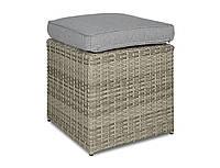 Пуф плетеный   STAL  GREY  39х39х43 см серый  modern