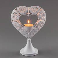 """Подсвечник """"Сердце"""" на 1 свечу, 22 см"""