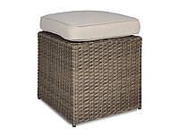 Пуф плетеный   STAL   CAFFE  39х39х43 см  бежево-коричневый modern