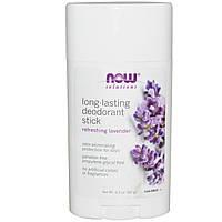 Now Foods,  Дезодорант - карандаш длительного действия, аромат освежающей лаванды (62 г)