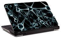 """Наклейка на ноутбук """"3d решетка"""", глянцевая/матовая, для всех моделей ноутбуков"""
