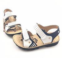 Кожаные сандалии на липучках (мал) GFB Штурман (р.33,34,35,36,37)