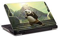 """Наклейка на ноутбук """"Панда кунг фу"""", глянцевая/матовая, для всех моделей ноутбуков"""