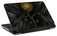 """Наклейка на ноутбук """"Стильный подсолнух"""", глянцевая/матовая, для всех моделей ноутбуков"""