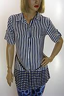 Рубашка-туника в полоску Kristina