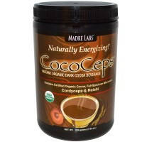 Madre Labs, CocoCeps, Быстрорастворимый органический темный какао-напиток (225 г)