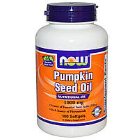 Now Foods, Масло из тыквенных семян, 100 гелевых капсул