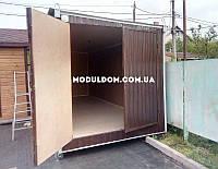 Хозблок под склад 6х2,4м - металлический каркас