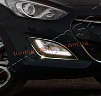 Окантовка противотуманных фонарей Omsa на Hyundai i30 2012-2015 хэтчбек