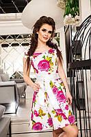 Женское джинсовое платье с атласным поясом