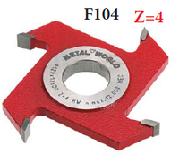 Пазовая фреза серия F104 (D=120 S=4)