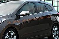 Накладки на зеркала с вырезом под поворотники Omsa на Hyundai i30 2012-2015 хэтчбек