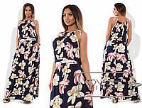 7e2838d7842 Красивое длинное летнее штапельное платье сарафан большого размера 48 - 54