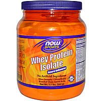 Now Foods, Спорт, изолят сывороточного протеина, порошок, натуральный, без ароматизаторов (544 г)