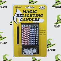 Свечи для торта Магические (уп. 10шт)