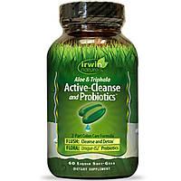 Irwin Naturals, Активная очистка и пробиотики, алоэ и трифала, 60 жидких гелевых капсул