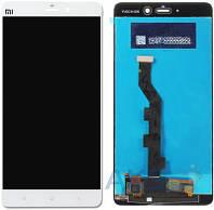 Дисплей (экран) для телефона Xiaomi Mi Note + Touchscreen Original White