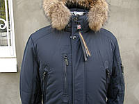 Зимняя куртка пуховик на верблюжей шерсти мужская