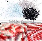 Алмазная вышивка, котик в цветах, 40х30 см, фото 6