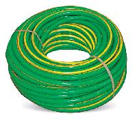 Шланг для полива участка эластичный Флория, диаметр ¾, армированный 4-слойный ПВХ, бухта 50 м