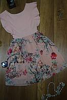 Женское  платье с рюшой и юбкой из шифона с подкладкой Italy, фото 1