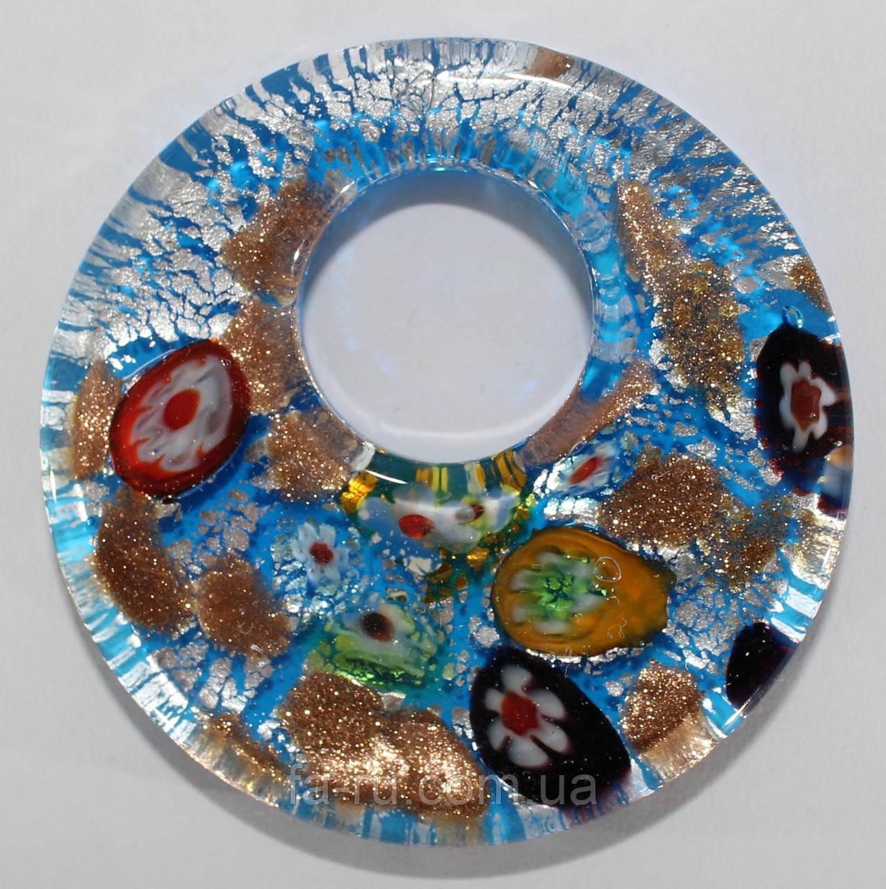 Муранское стекло (голубой)