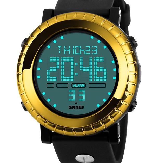 Кварцевые спортивные часы Skmei (yellow) - гарантия 6 месяцев
