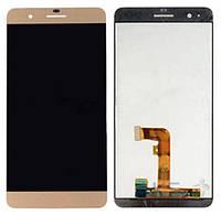 Дисплей (экран) для телефона Huawei Honor 6 Plus + Touchscreen Original Gold